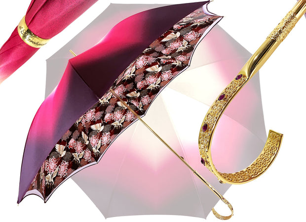 Beautiful Double Cloth Umbrella-  Exclusive Herons Design - il-marchesato