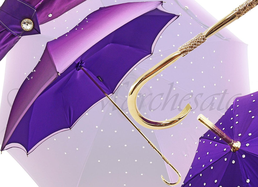 Luxurious Ladies Umbrella Adorned with Swarovski Elements - il-marchesato