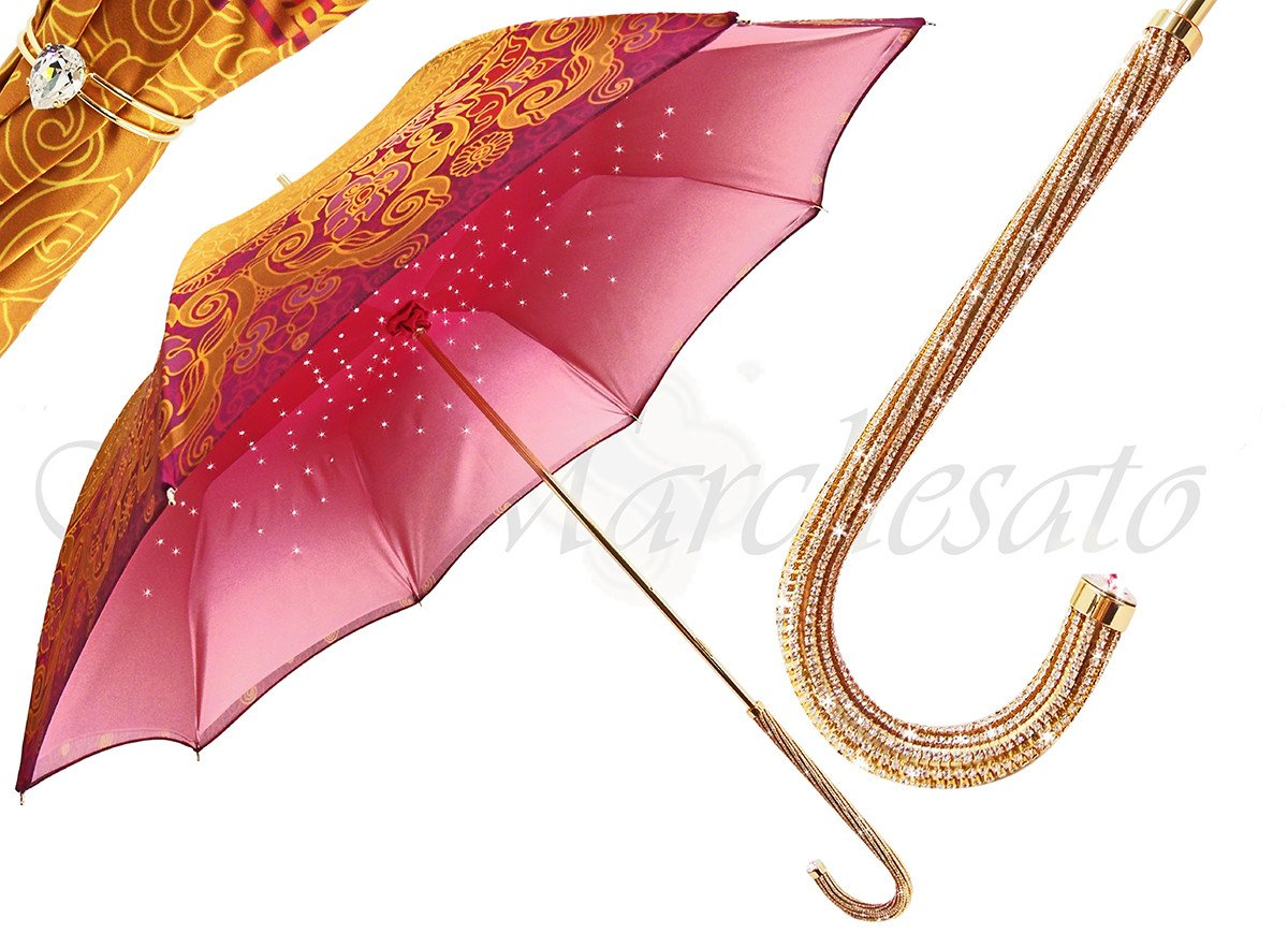 AWESOME LUXURY WOMEN'S UMBRELLA FASHION JEWEL HANDLE