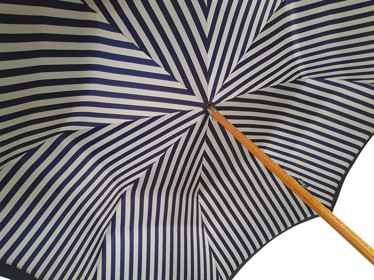 Double Cloth Men's Umbrella - Blue Striped Design - il-marchesato