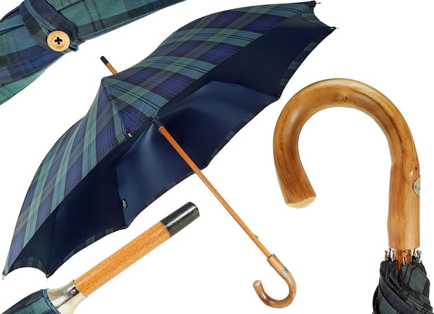Marchesato Double Cloth Men's Umbrella - Cotton Fabric - il-marchesato