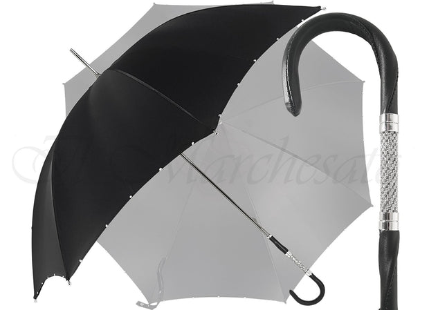 Handcrafted Luxury Umbrella in a Black Color - il-marchesato