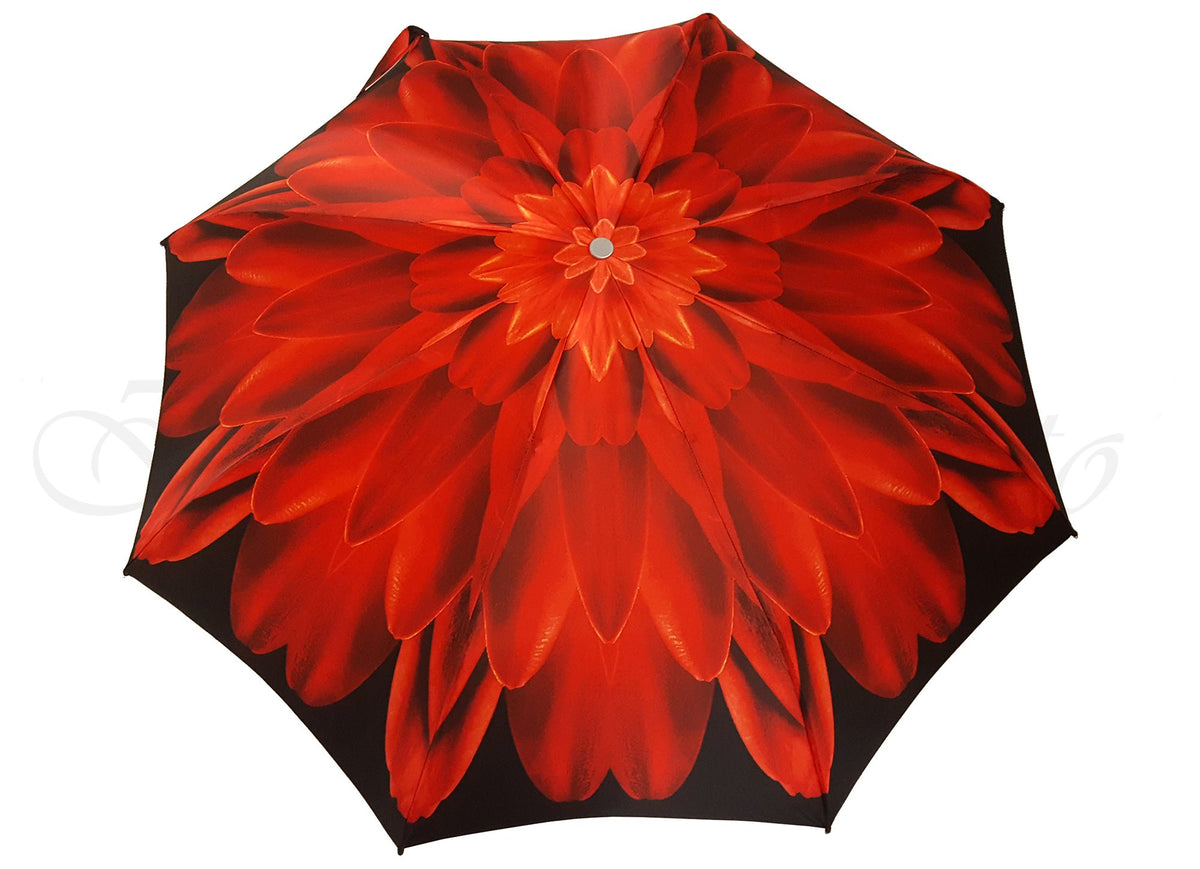 Red Dahlia - Luxury Ladies Umbrella