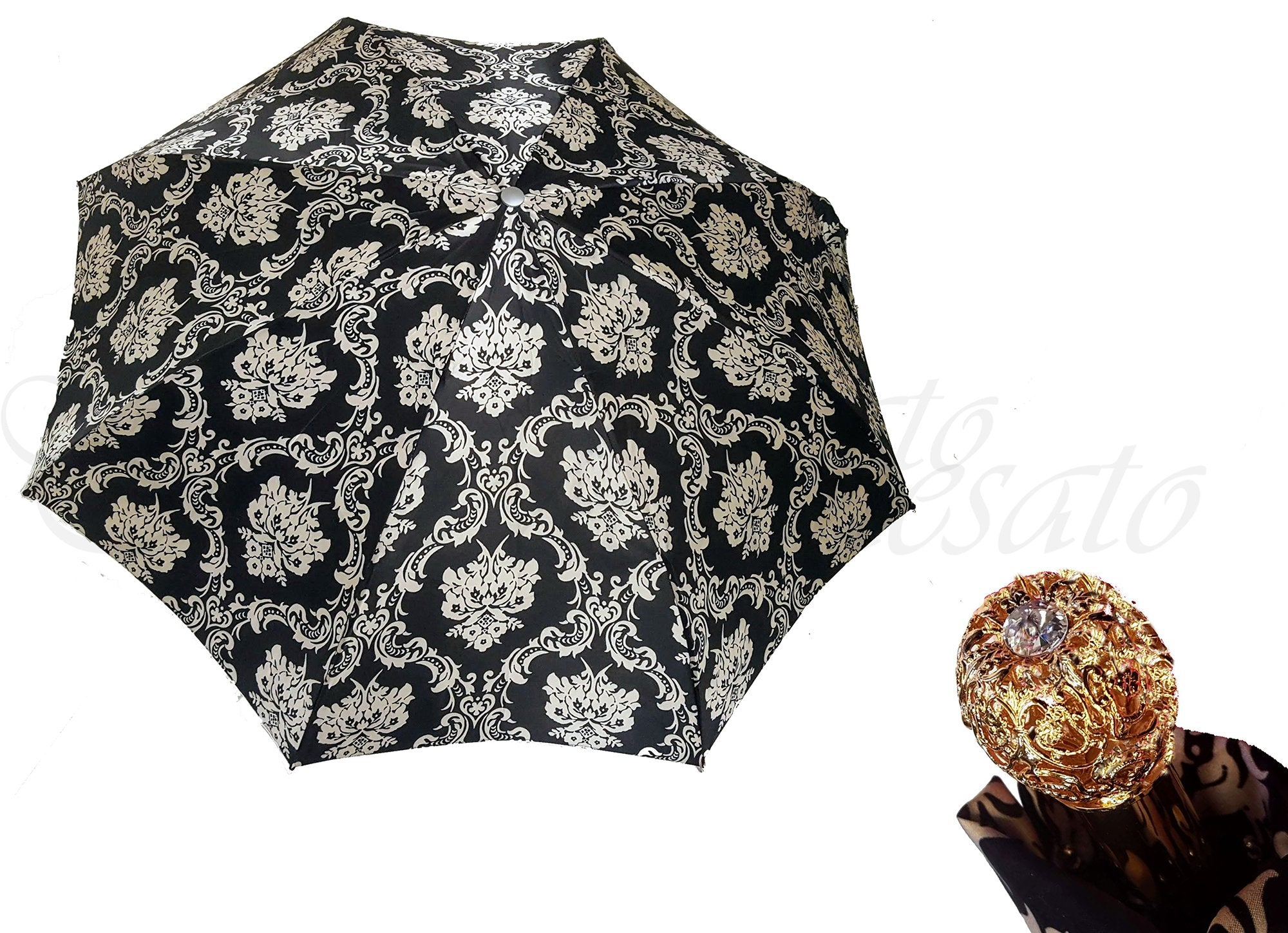 Lightweight Folding Umbrella Baroque Style - il-marchesato