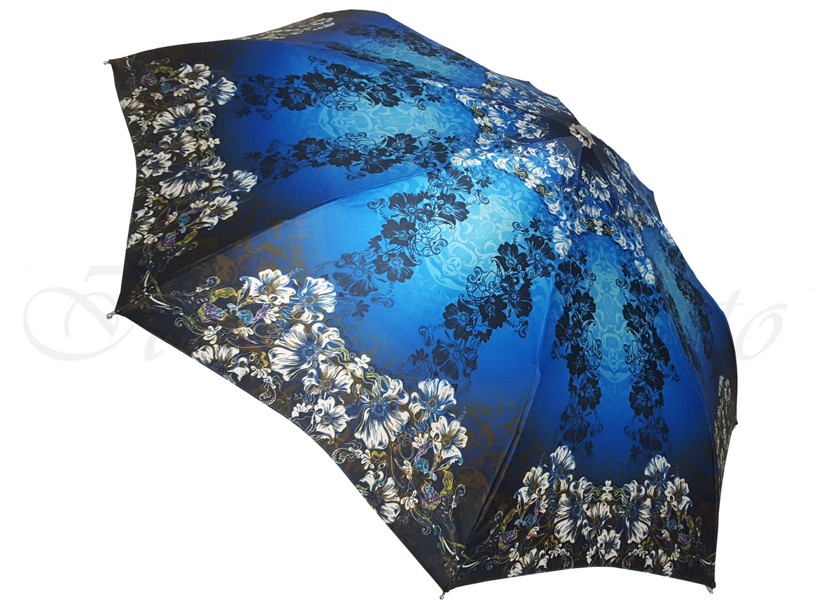 Awesome Blue Flowered Umbrella