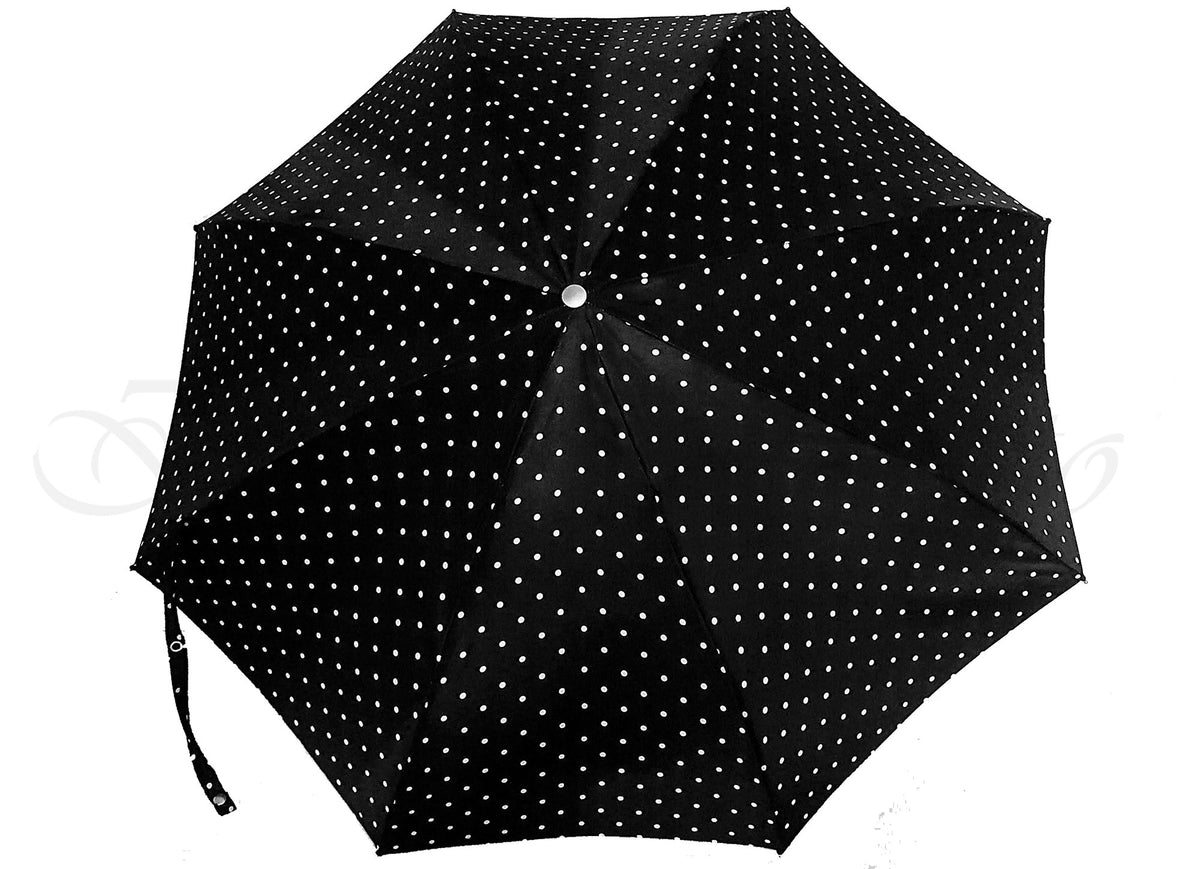 Compact Folding Polka Dot Umbrella - il-marchesato