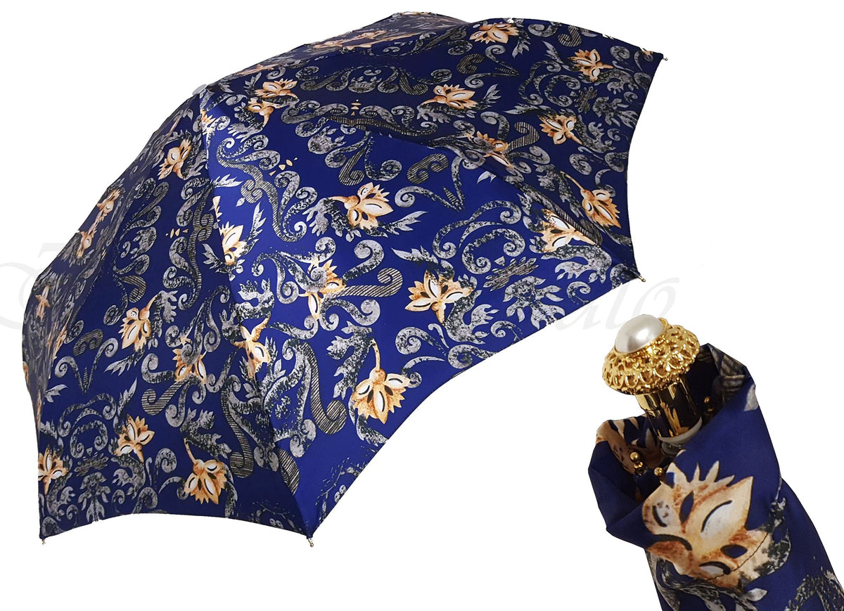 BLUE SMALL FOLDING UMBRELLA