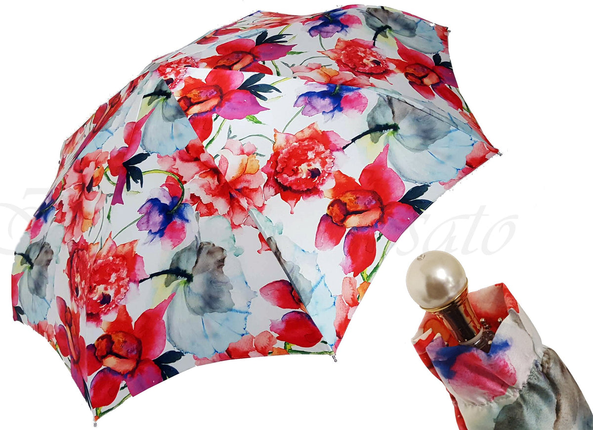 ADORABLE FOLDING UMBRELLA FLORAL DESIGNED