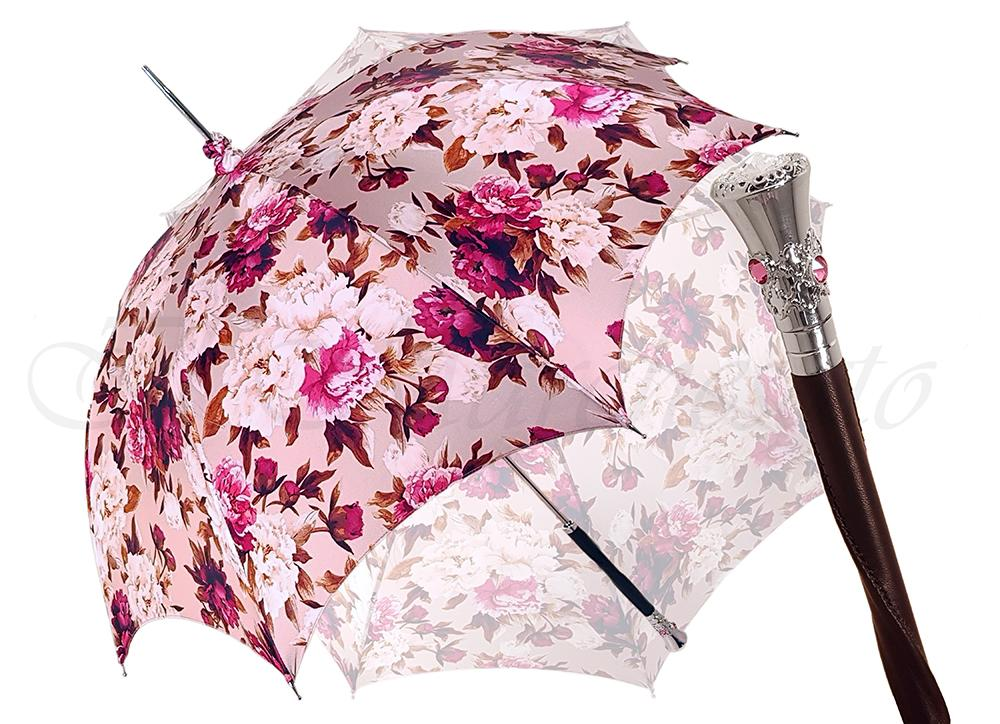 Beautiful Pink Flowered Parasol - il-marchesato
