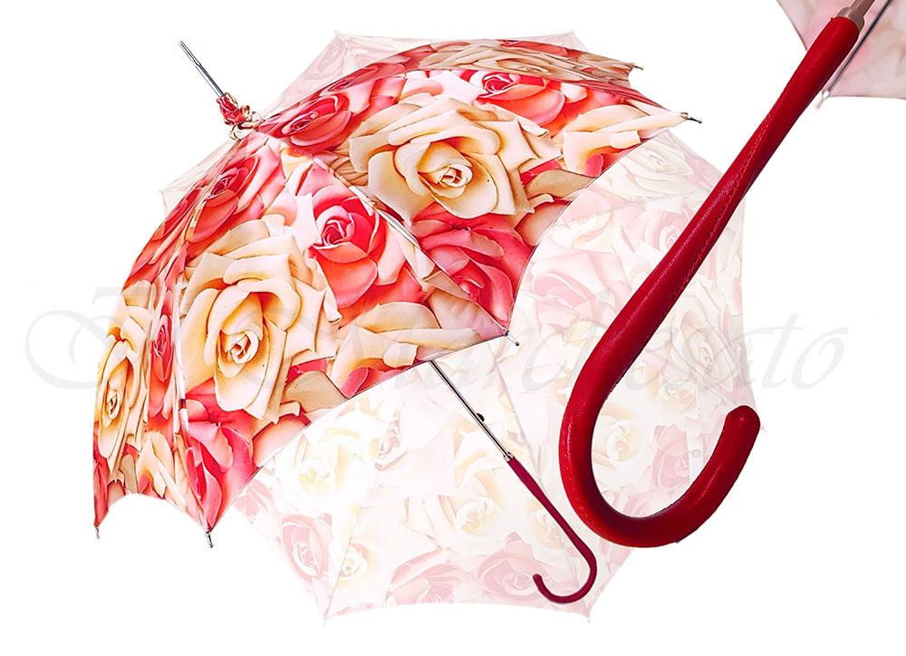 Luxury Parasol With Roses - il-marchesato