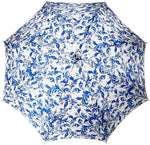 Load image into Gallery viewer, Elegant Parasol With Blue Design On White Background - il-marchesato