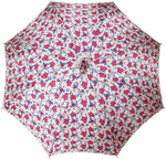 Load image into Gallery viewer, Pink Roses Parasol - Pink Leather Handle - il-marchesato
