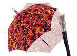 Load image into Gallery viewer, Parasol Multi-Color Floral Umbrella for Women  - Black Leather Handle - il-marchesato