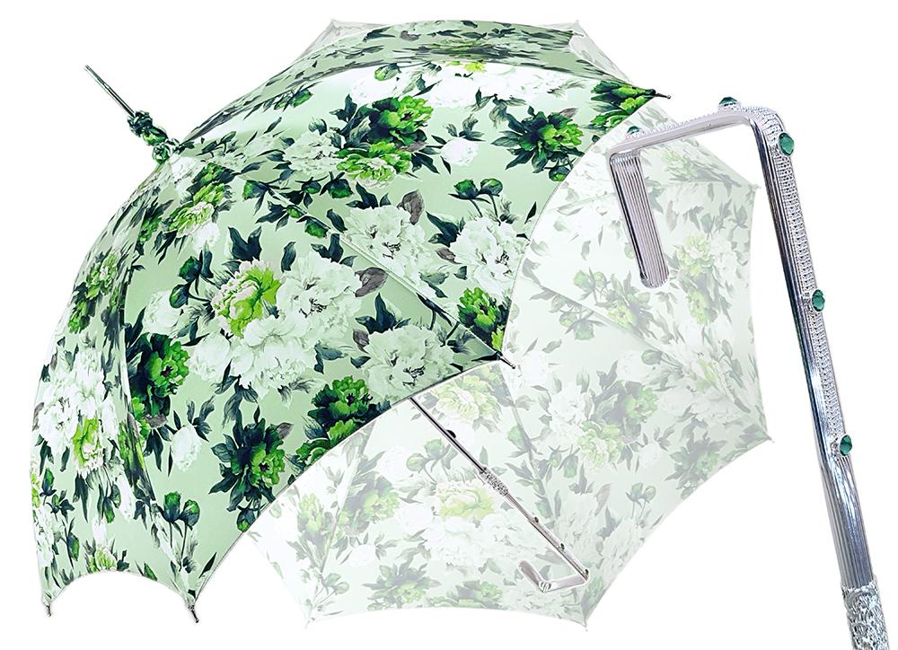 Flowered Green Parasol - il-marchesato
