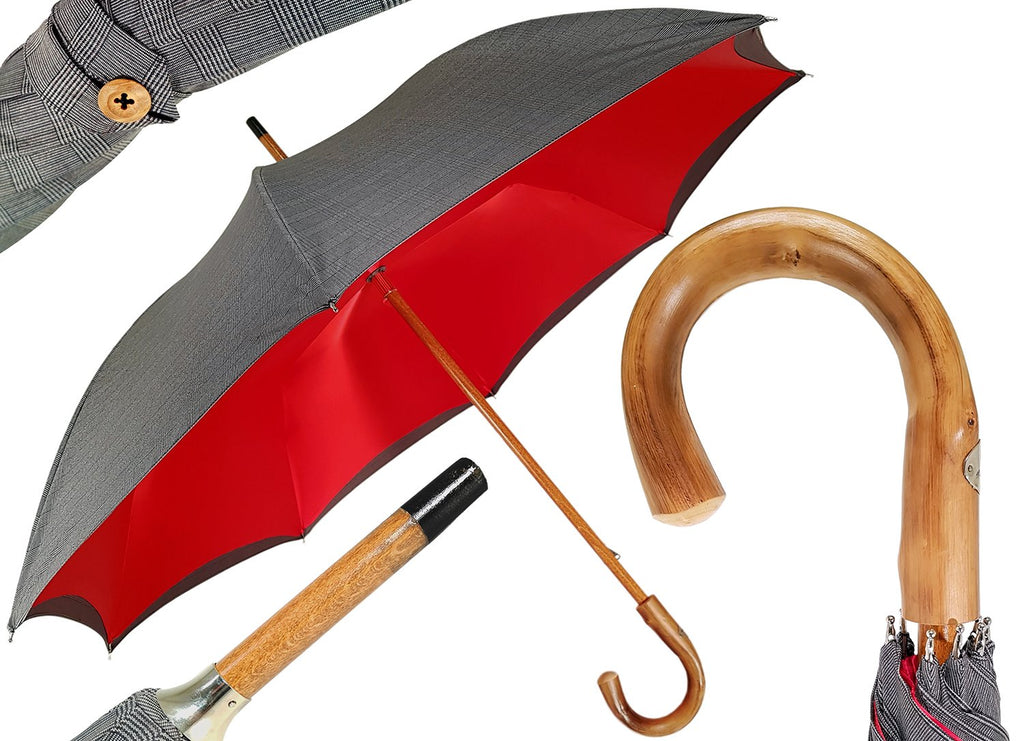 Double Cloth Men's Umbrella - Tartan Design - il-marchesato