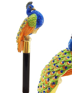 Enamelled Peacock Shoehorn By il Marchesato - il-marchesato