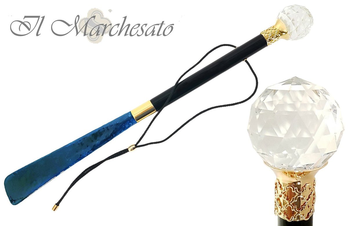 A Very Impressive Shoehorn With Large Swarovski Crystal - il-marchesato