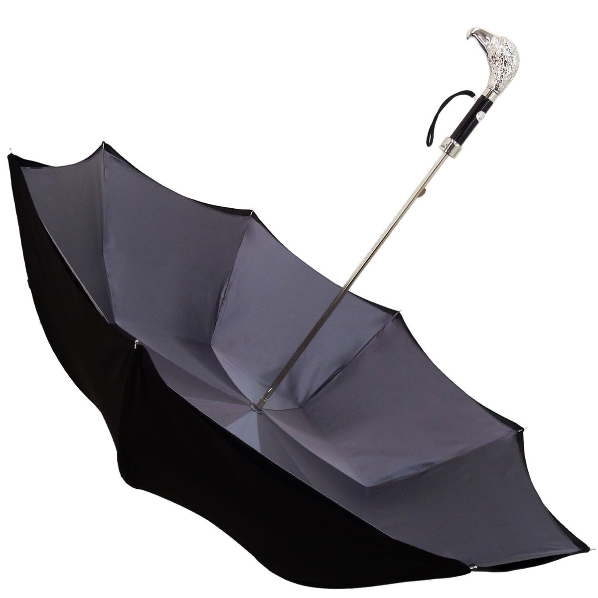 HANDMADE BLACK MAN DOUBLE CANOPY UMBRELLA