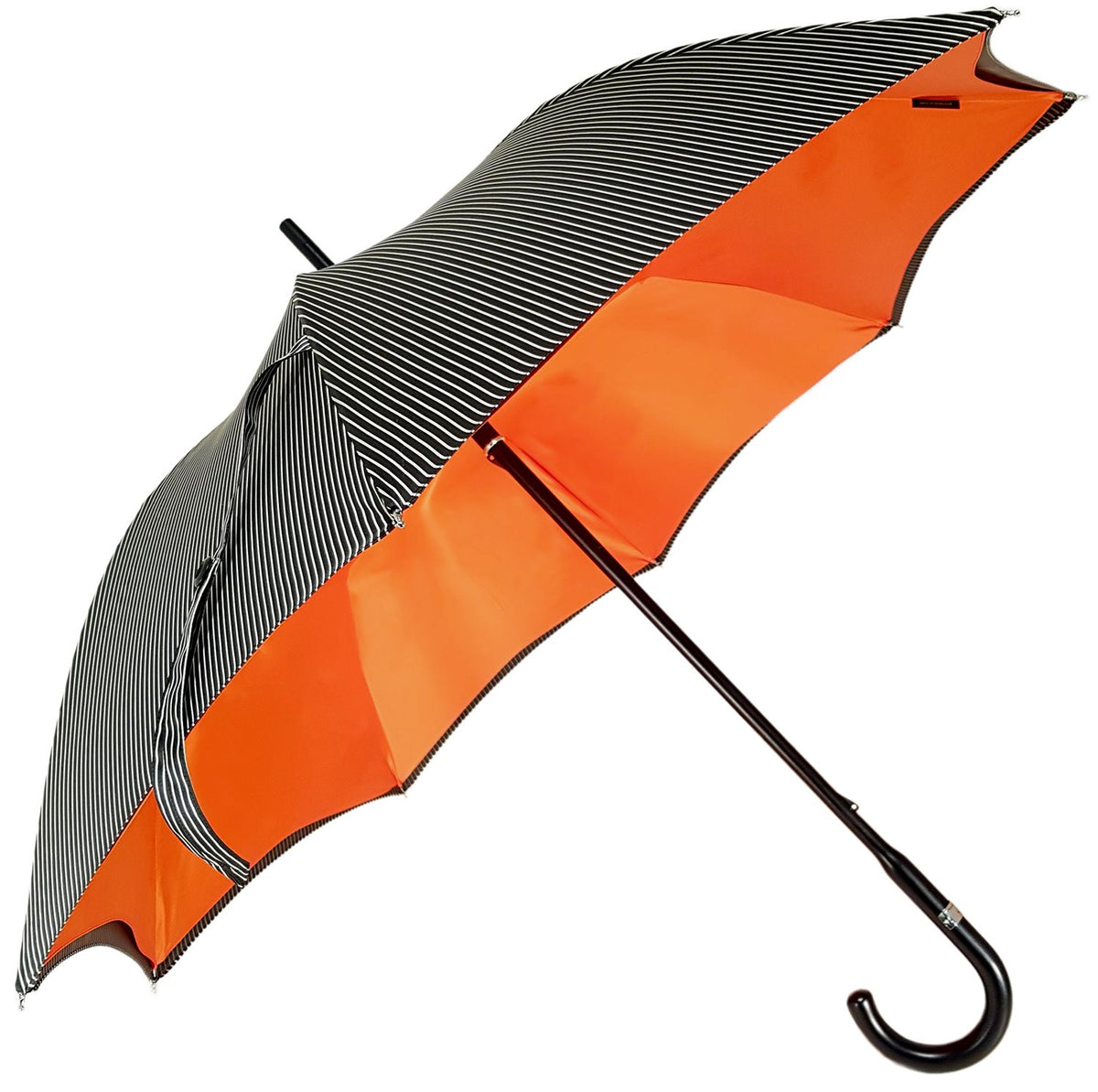 Double Cloth Men's Black Striped Umbrella - il-marchesato