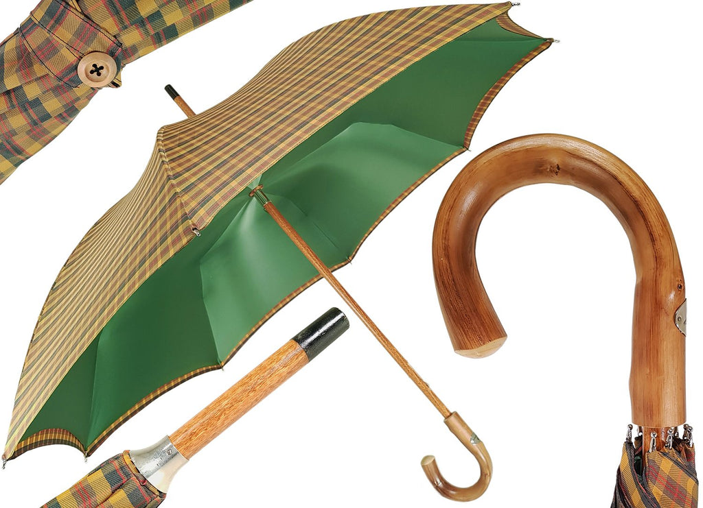 Marchesato Double Cloth Men's Umbrella - Tartan Design - il-marchesato