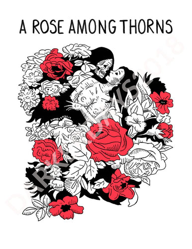 A Rose Among Thorns Print Throwback Prints