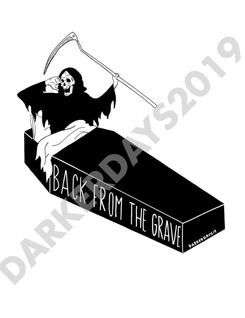 Back From The Grave Print Prints