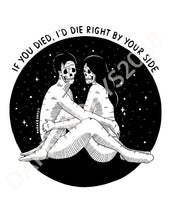Id Die Right By Your Side Print Throwback Prints