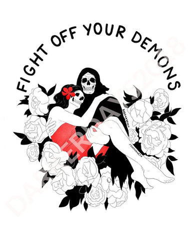 Fight Off Your Demons Print Throwback Prints