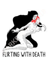 Flirting With Death Print Prints