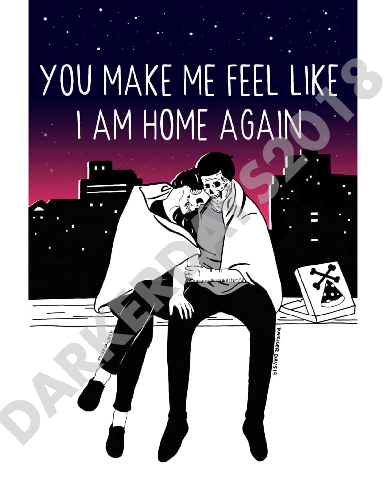 Home Again Print Collab W/@dvrkshines Prints