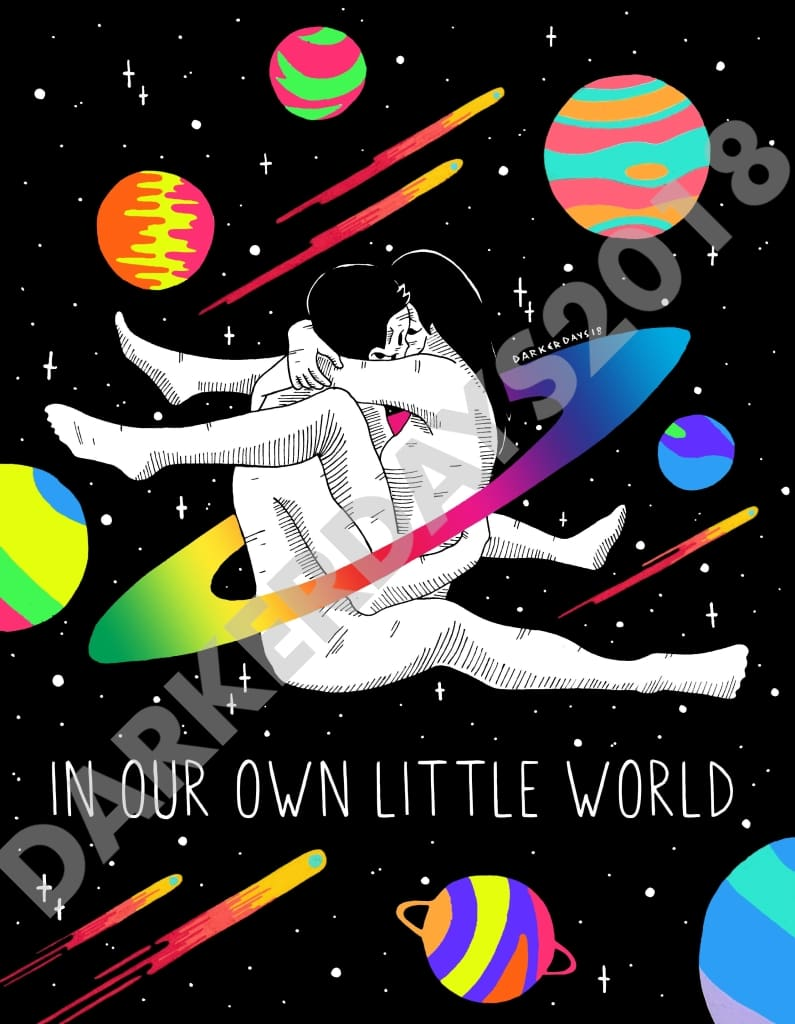 In Our Own Little World Print Prints