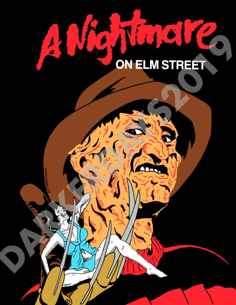 Nightmare On Elm Street Print Prints