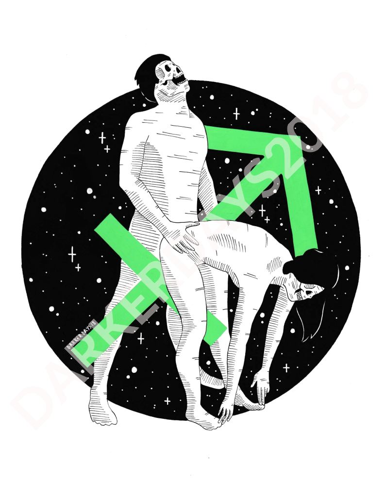 Sagittarius Original Illustration Illustrations