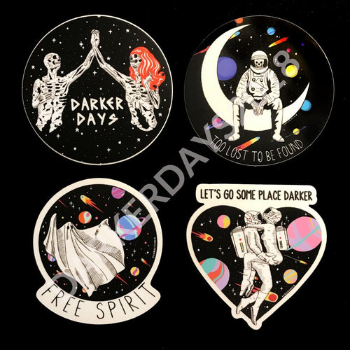 Darker Days Space Stickers Set Merch