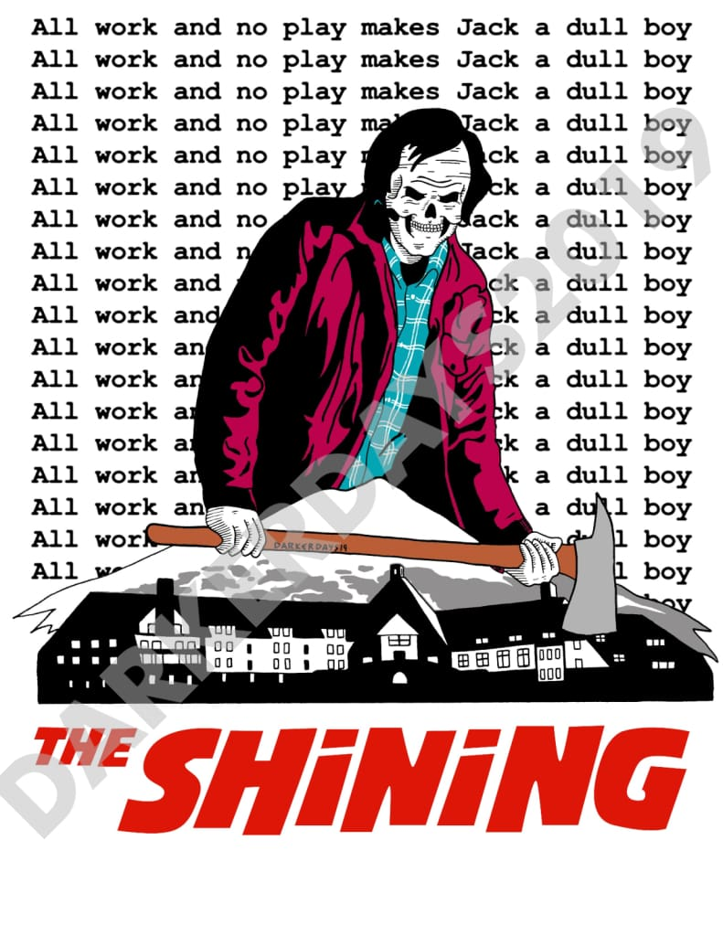 The Shining Print (With Background Text) Prints