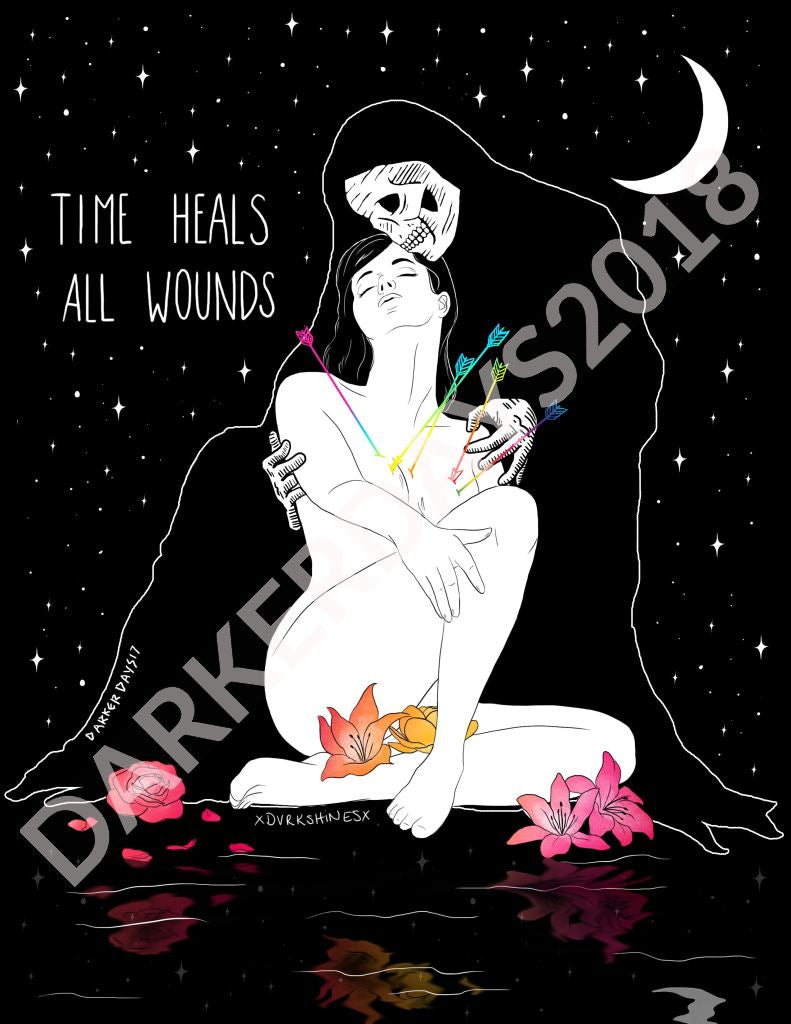 Time Heals All Wounds Print Throwback Prints