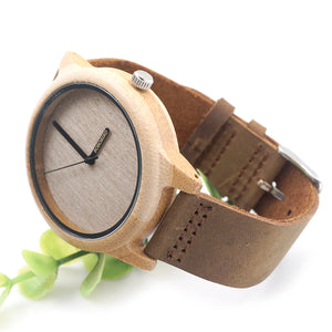 BOBO BIRD Bamboo Wood Quartz 0235 Analog Watch