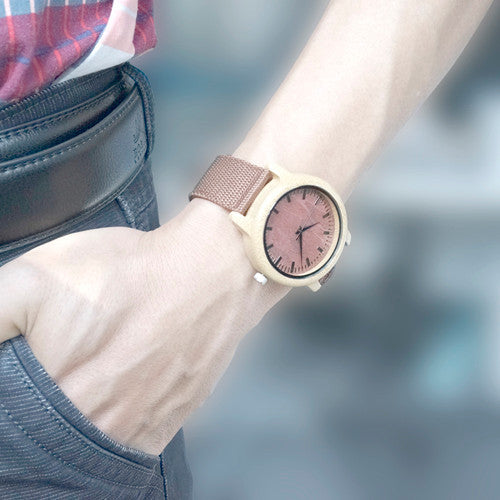Men's Wooden Watch / Casual Bamboo