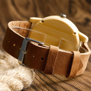 Men's Wooden Watch / Bamboo Light Brown