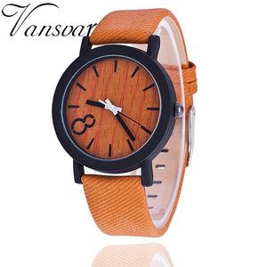Designer Wooden Relojes Quartz Watch