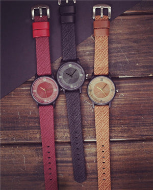 Vintage Luxury Brand Wood Retro Women Watches