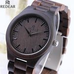 REDEAR Full Wood Wrist Watch for Men