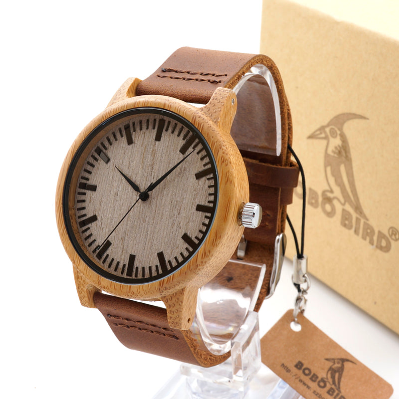 BOBO BIRD Luxury Mens Bamboo Watch