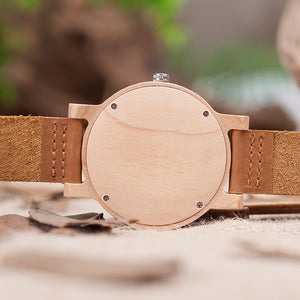 BOBO BIRD High Quality Mens Wooden Quartz Watch