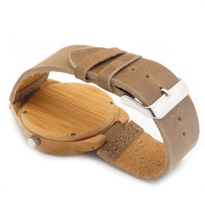 BOBO BIRD Unique Natural Bamboo Wood Watch