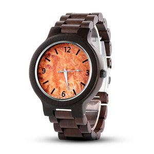 Unique Dark Wood Men's Watch