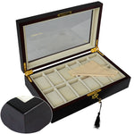 12 Slots Wood Watch Display Case Box