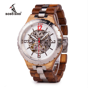 BOBO BIRD Waterproof Wooden Metal Watch