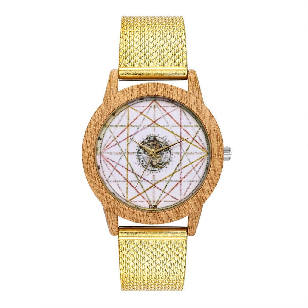 Fashion Wood Grain Women's Wrist Watch