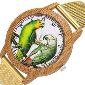 Birb Wood Grain Women's Wrist Watch